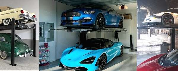 Car Lifts  – Creating A Four Car Dream Garage In A Two Car Space